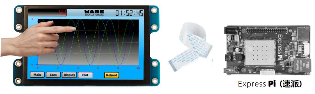 XH-050触摸显示模组连接示意图